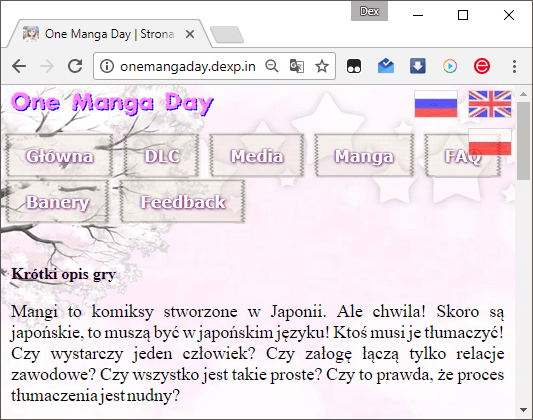 One Manga Day in Polish