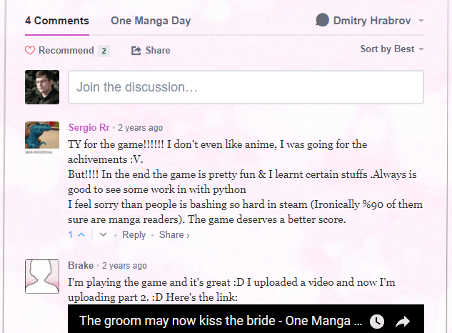 One Manga Day Disqus comments