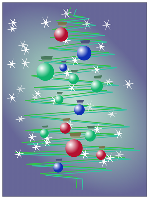 Inkscape: ms_meme и праздничное дерево - 10