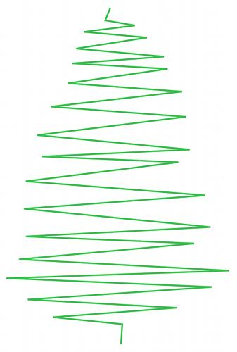 Inkscape: ms_meme и праздничное дерево - 2