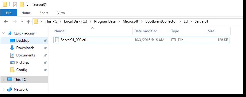 Сбор данных о загрузочных событиях Windows Server 2016 - 15