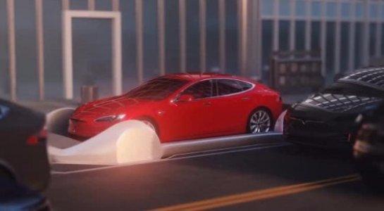 В сети появилось фото электрокара Tesla внутри Лос-Анджелесского туннеля