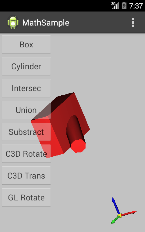 C3D тест для Android