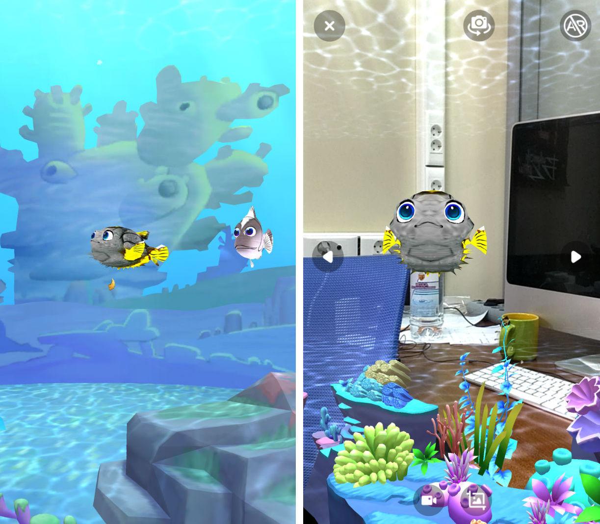 Мобильный аквариум, или еще один пример дополненной реальности для детей Ocean Pets - 8
