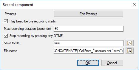 Отправка e-mail сообщения в среде разработки 3CX Call Flow Designer - 3