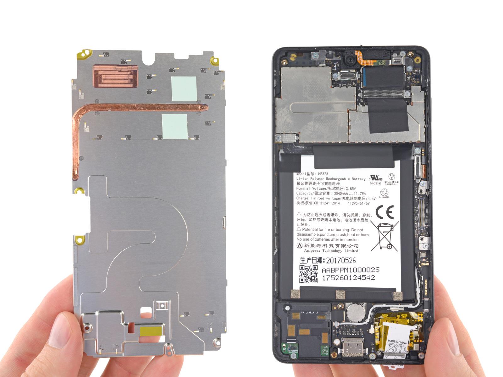 Телефон от создателя Android получил 1 балл из 10 по шкале ремонтопригодности iFixit - 4