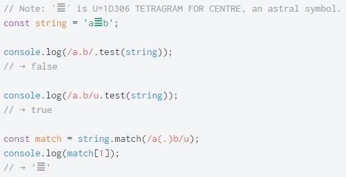 ECMAScript 6. Регулярные выражения с поддержкой Unicode - 3