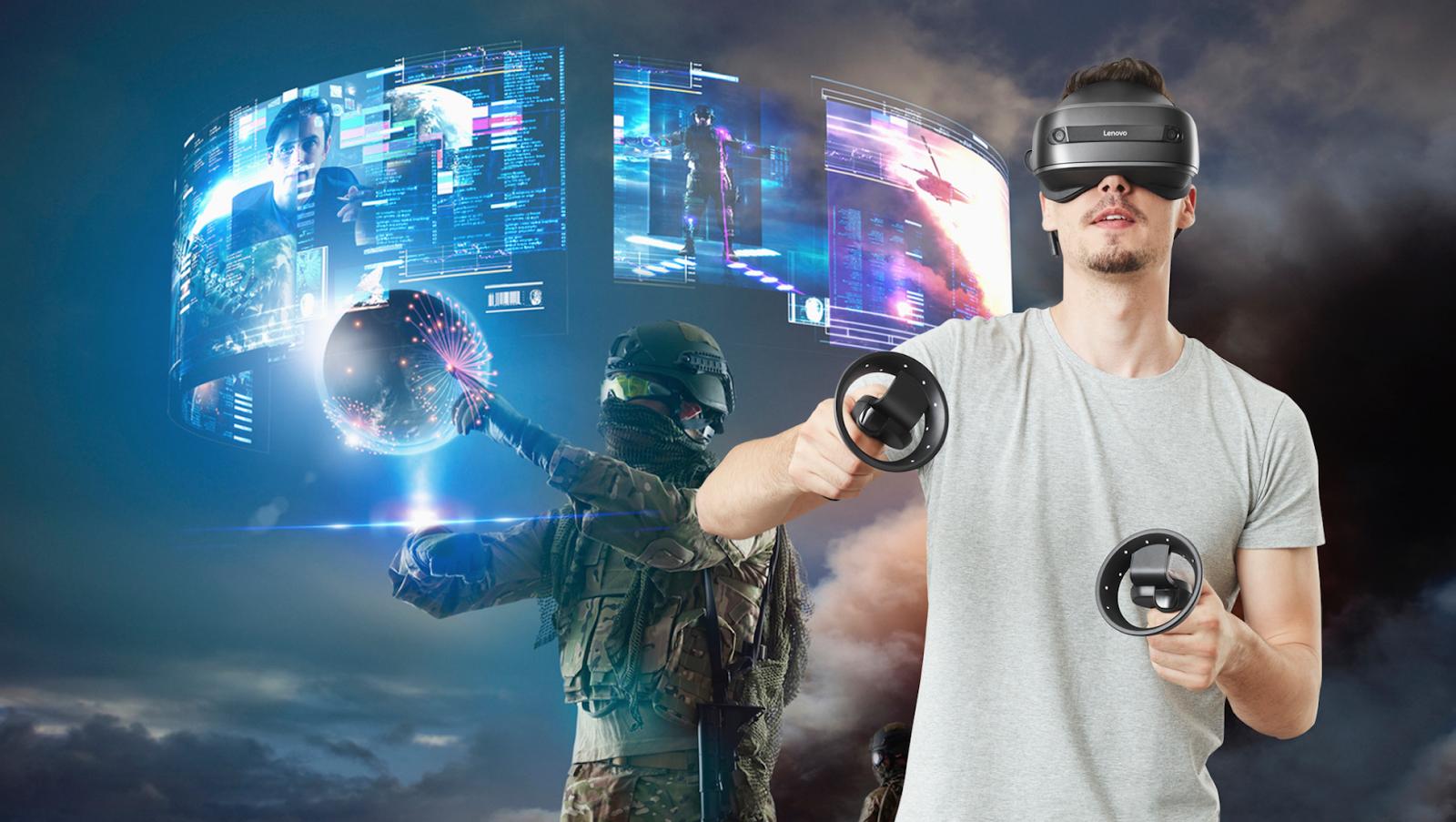 Виртуальная реальность со шлемом Lenovo Explorer - 1