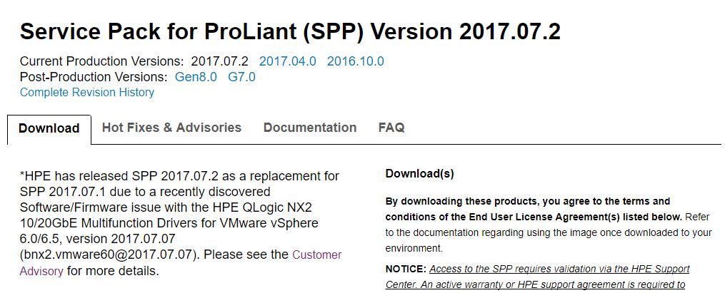 Последнее обновление для HPE ProLiant выводило из строя сетевые адаптеры - 2