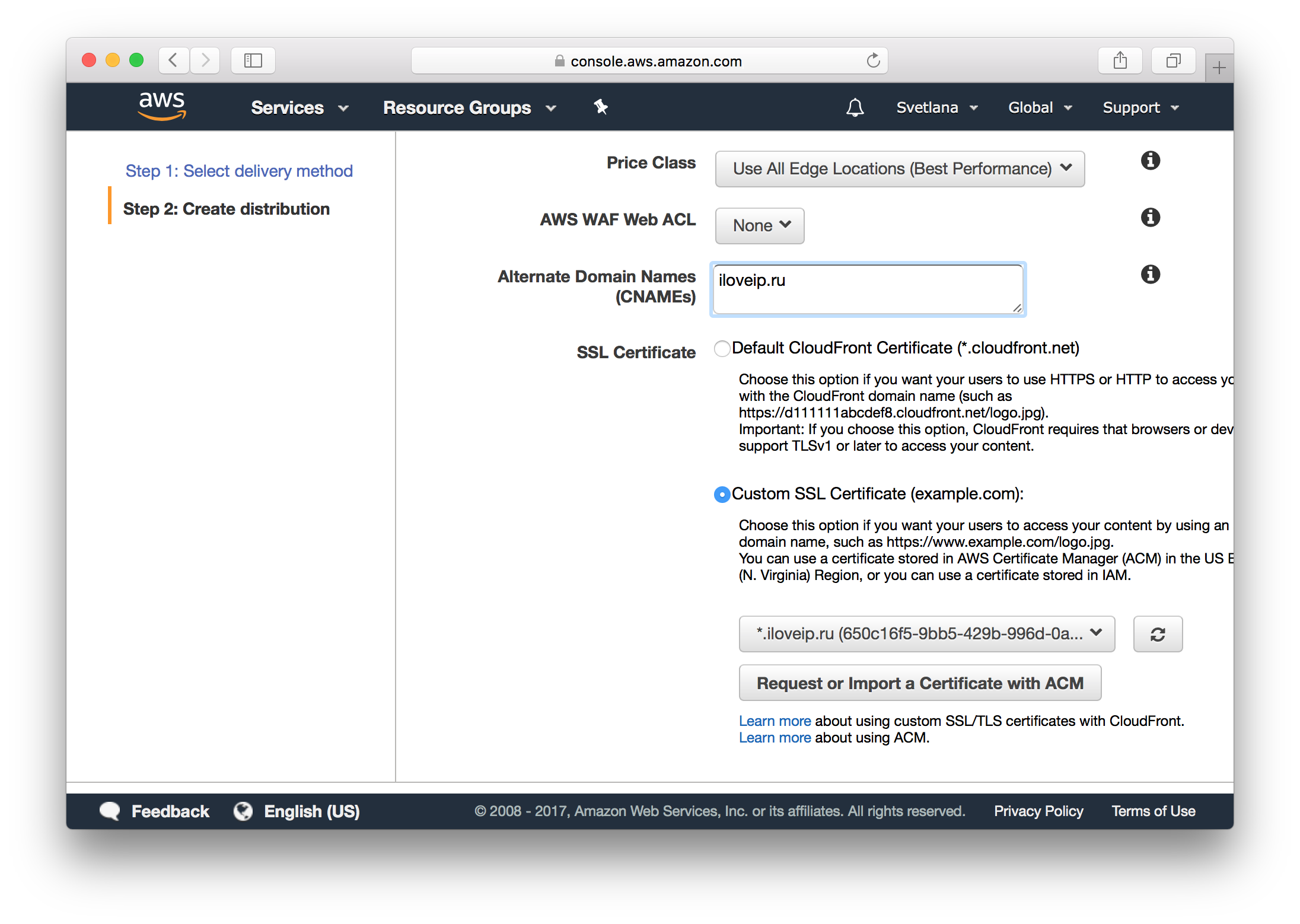 Как получить бесплатный SSL-сертификат от Amazon и переехать на HTTPS на Amazon S3 - 9