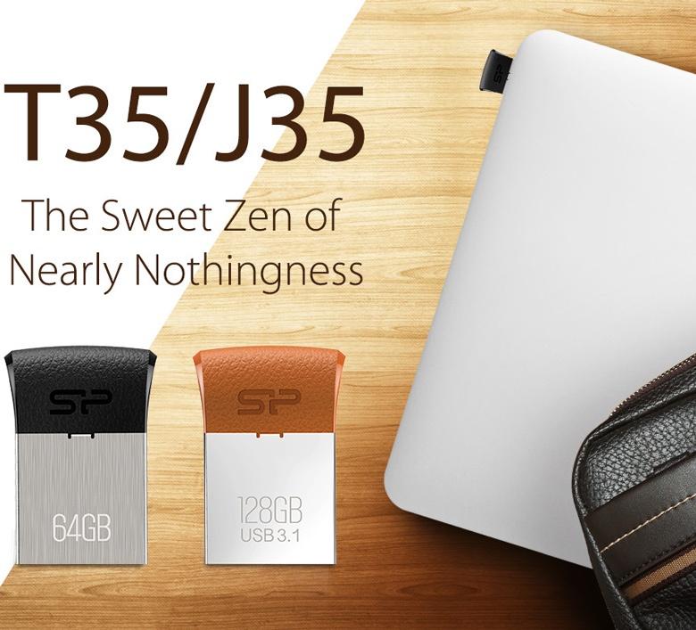 Накопители T35 предложены объемом от 8 до 64 ГБ, J35 — от 8 до 128 ГБ