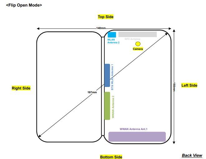 ZTE Axon M будет иметь габариты 150 х 140 мм в разложенном виде