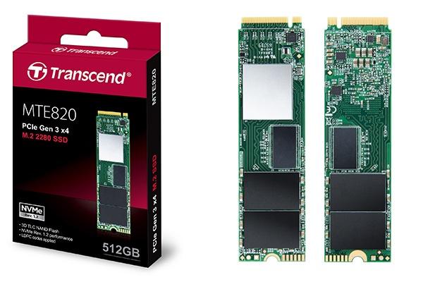 В твердотельном накопителе Transcend MTE820 используется флэш-память 3D TLC NAND