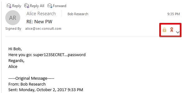 Баг недели. Outlook 2016 вместе с зашифрованным письмом присылает его открытый текст - 2