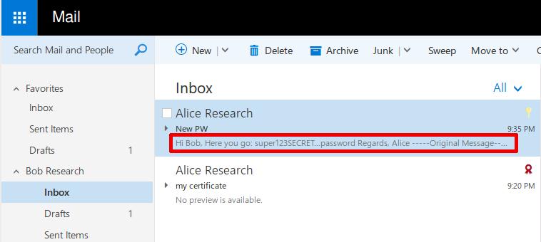 Баг недели. Outlook 2016 вместе с зашифрованным письмом присылает его открытый текст - 1