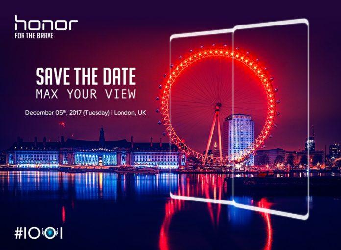 Безрамочный смартфон Honor будет показан 5 декабря