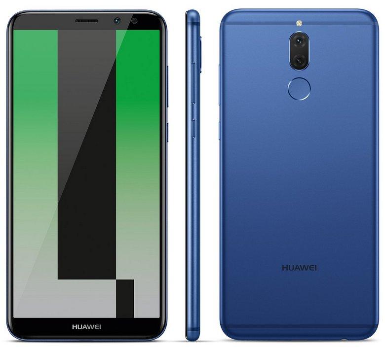 Опубликовано качественное изображение смартфона Huawei Mate 10 Lite, который оснащен четырьмя камерами и экраном 18:9