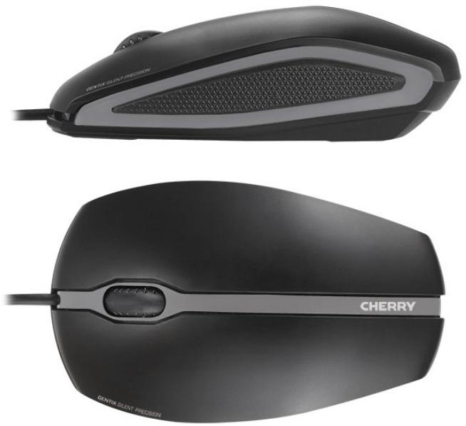 Симметричная мышь Cherry Gentix Silent одинаково пригодна для использования правой или левой рукой