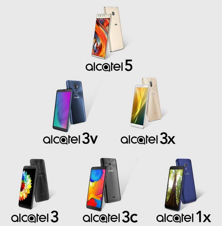 Опубликованы изображения новой линейки смартфонов Alcatel