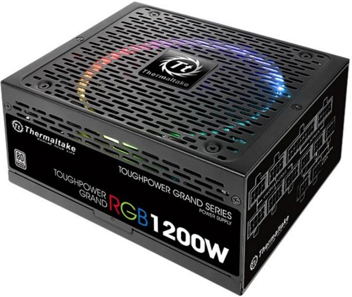 БП Thermaltake Toughpower Grand RGB Platinum оснащены модульными кабельными системами и вентиляторами Riing 14 RGB с 256-цветной подсветкой