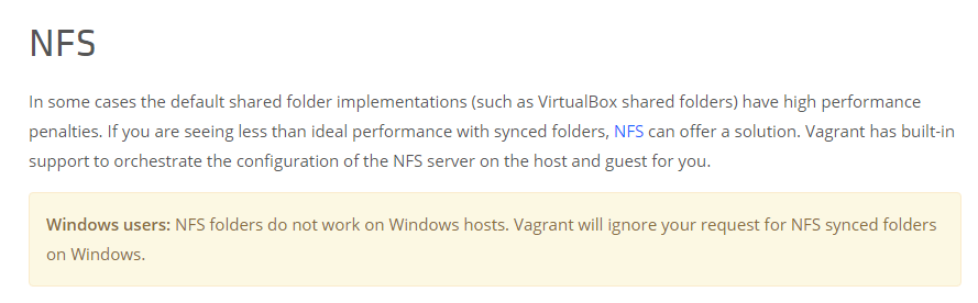 Ускоряем vagrant shared-folder на Windows хосте - 3