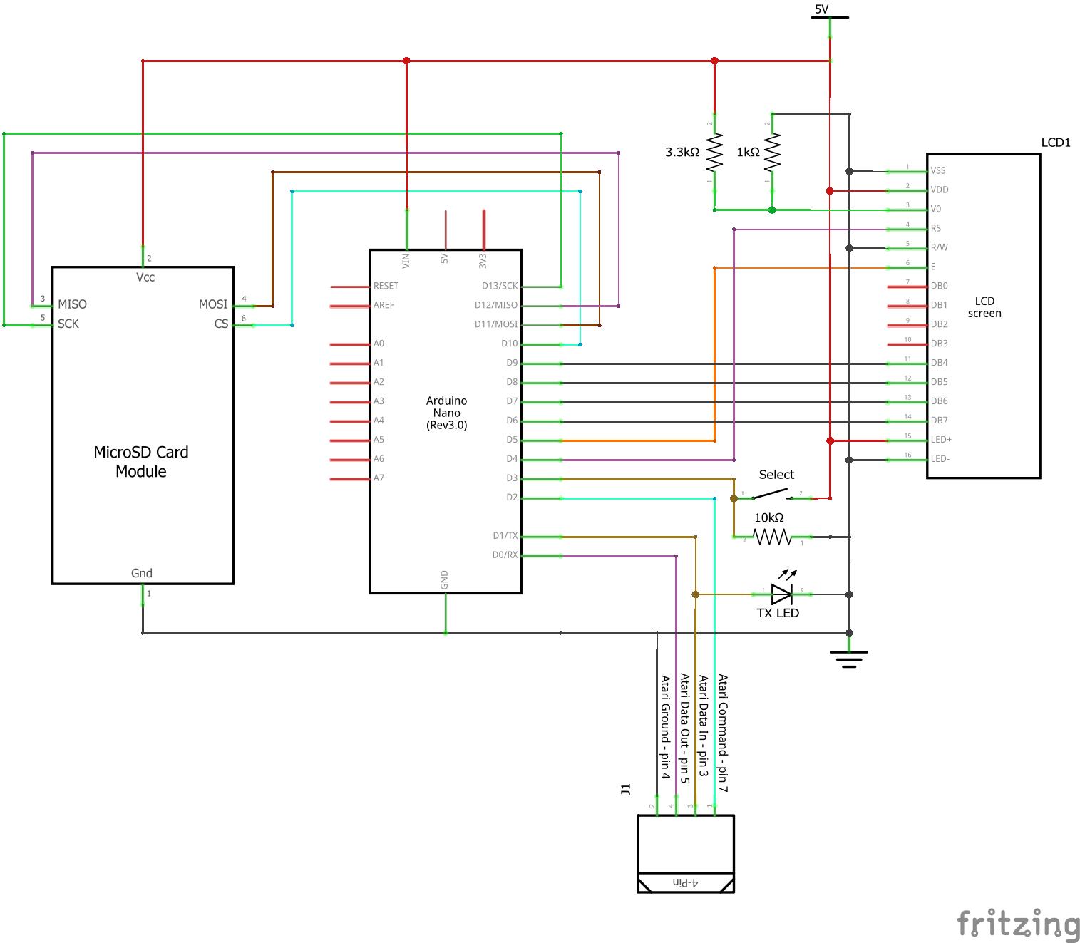 Эмулятор дисковода для Atari на Arduino - 6