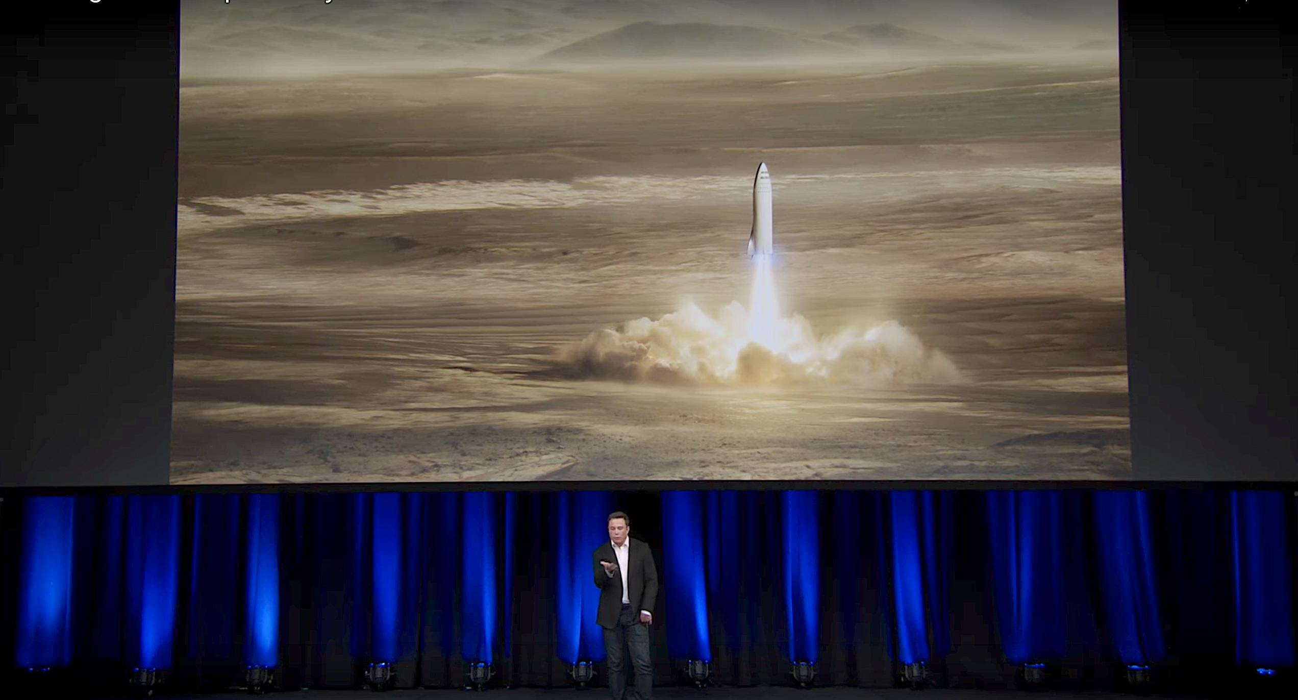 Илон Маск рассказал о полете на Марс и межпланетной транспортной системе - 1