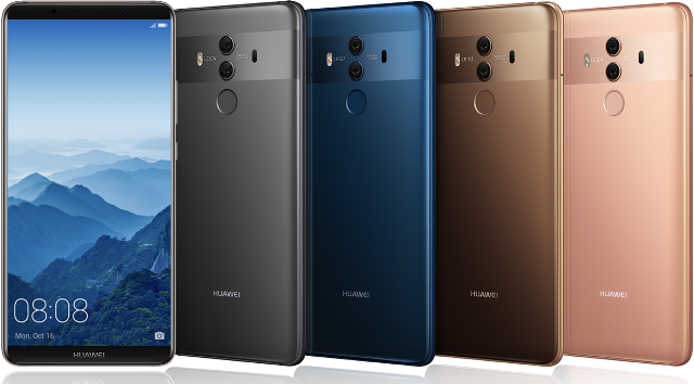 Представлены смартфоны Huawei Mate 10 Pro и Mate 10 Porsche Design