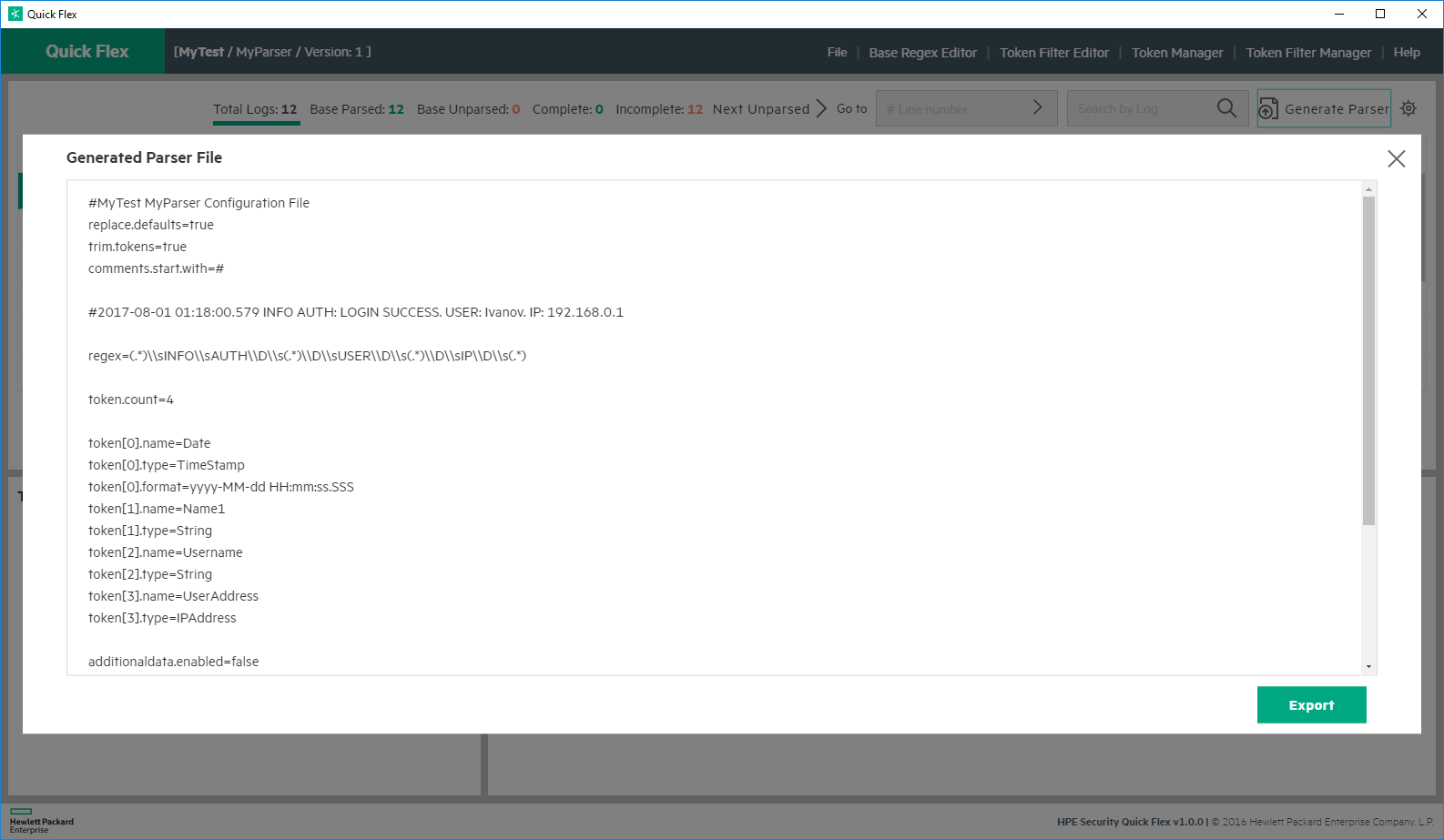 Пишем Arcsight FlexConnector. Log File - 21