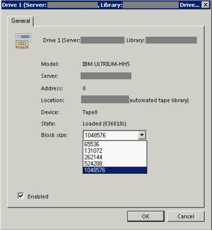 Разбор кейса про изменение настроек размера блока данных для записи на ленту с Veeam Backup & Replication - 6