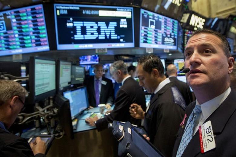 Акции IBM, с начала года подешевевшие на 12%, показали крупнейший за последние шесть лет рост