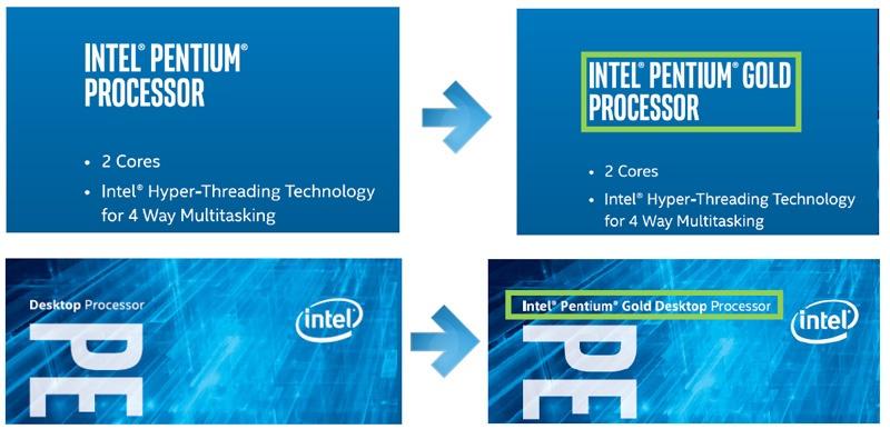 Больше золота! Pentium Gold — новый бренд для топовых Pentium - 1