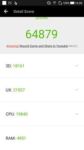 Обзор смартфона ASUS ZenFone 4 - 64