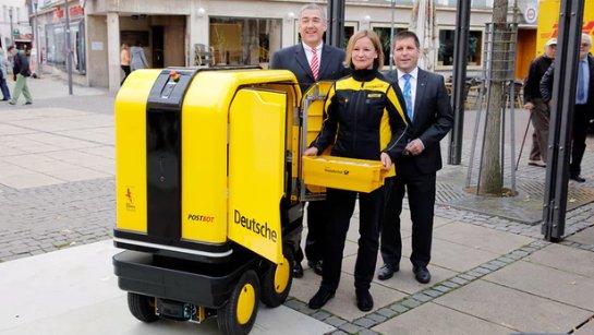 Почтовый робот DHL поставляет товары по Германии