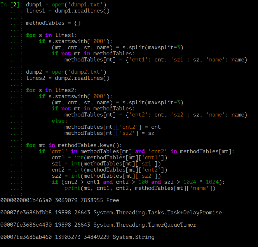 Поиск утечек памяти в приложениях на .NET Core под Linux - 2