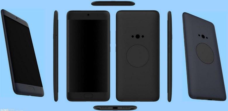 Опубликованы новые изображения смартфона Meizu X2, который оснащен дополнительным круглым дисплеем