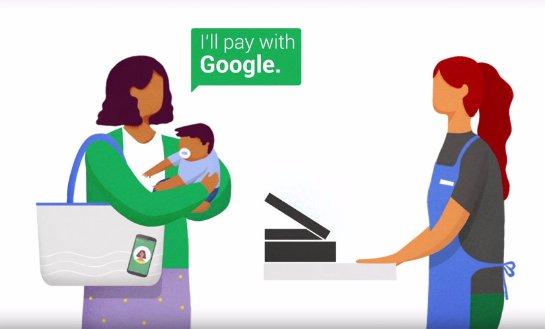 C «Pay with Google» ускоряется оформление заказа