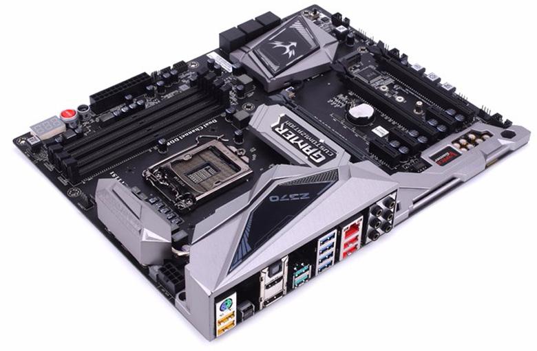 На плате Colorful iGame Z370 Vulcan X V20 есть три слота расширения PCIe 3.0 x16 и три PCIe 3.0 x1