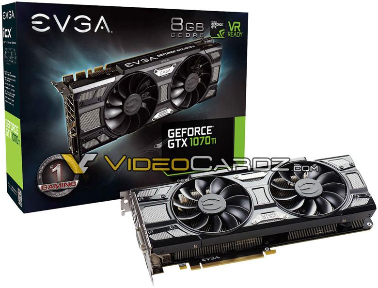 Компания EVGA планирует выпуск нескольких моделей на базе Nvidia GeForce GTX 1070 Ti