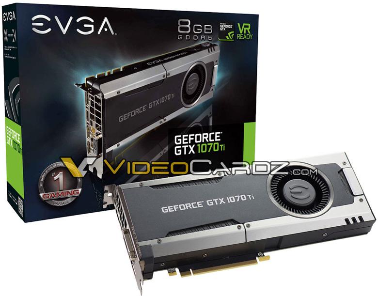 Компания EVGA планирует выпуск нескольких моделей на базе Nvidia GeForce GTX 1070 T