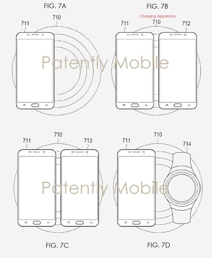 Samsung запатентовала беспроводную зарядную станцию для смартфонов, планшетов и умных часов