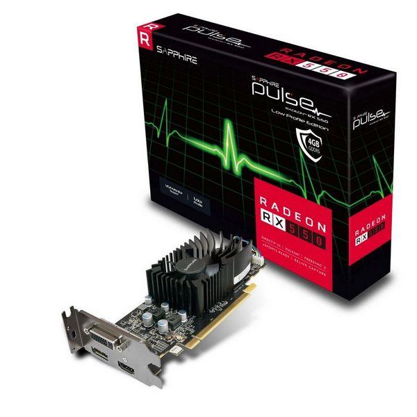 Видеокарта Sapphire Pulse Radeon RX 550 4GD5 Low Profile позволяет подключать мониторы посредством VGA