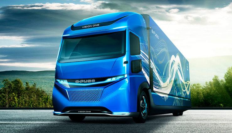 Электрогрузовик Mitsubishi E-Fuso Vision One имеет дальность хода в 350 км