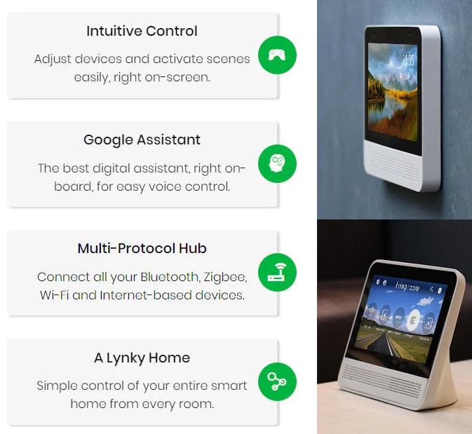 Lynky — первая умная АС с сенсорным экраном и Google Assistant