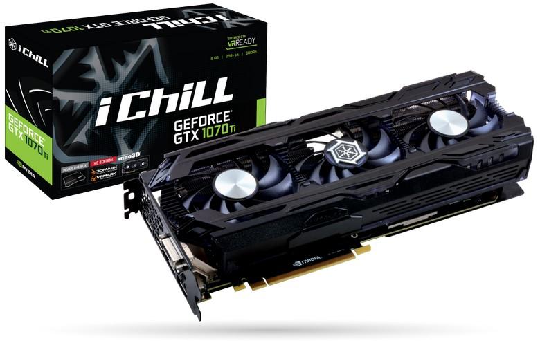 Inno3D представила четыре карты GeForce GTX 1070 Ti