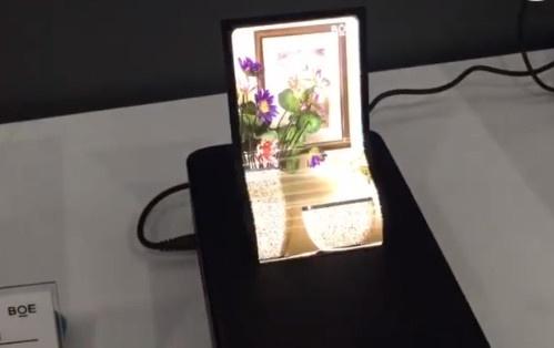 BOE показала сгибающиеся дисплеи AMOLED