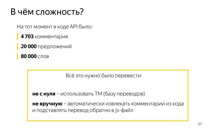 Локализация комментариев в коде. Лекция Яндекса - 6