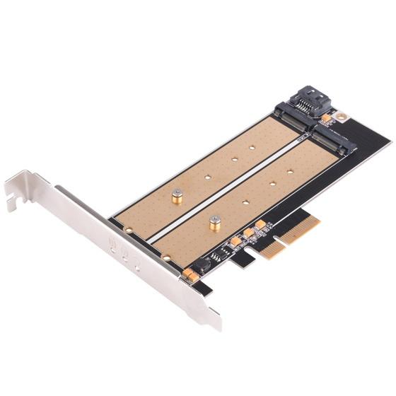 Карта SilverStone ECM22 поддерживает накопители с интерфейсом PCIe и SATA