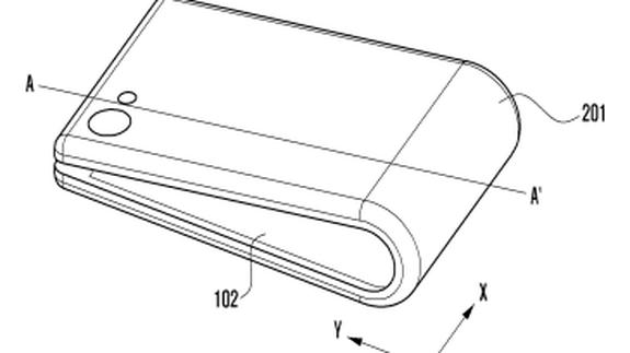Появились новые эскизы смартфона Samsung со сгибающимся дисплеем