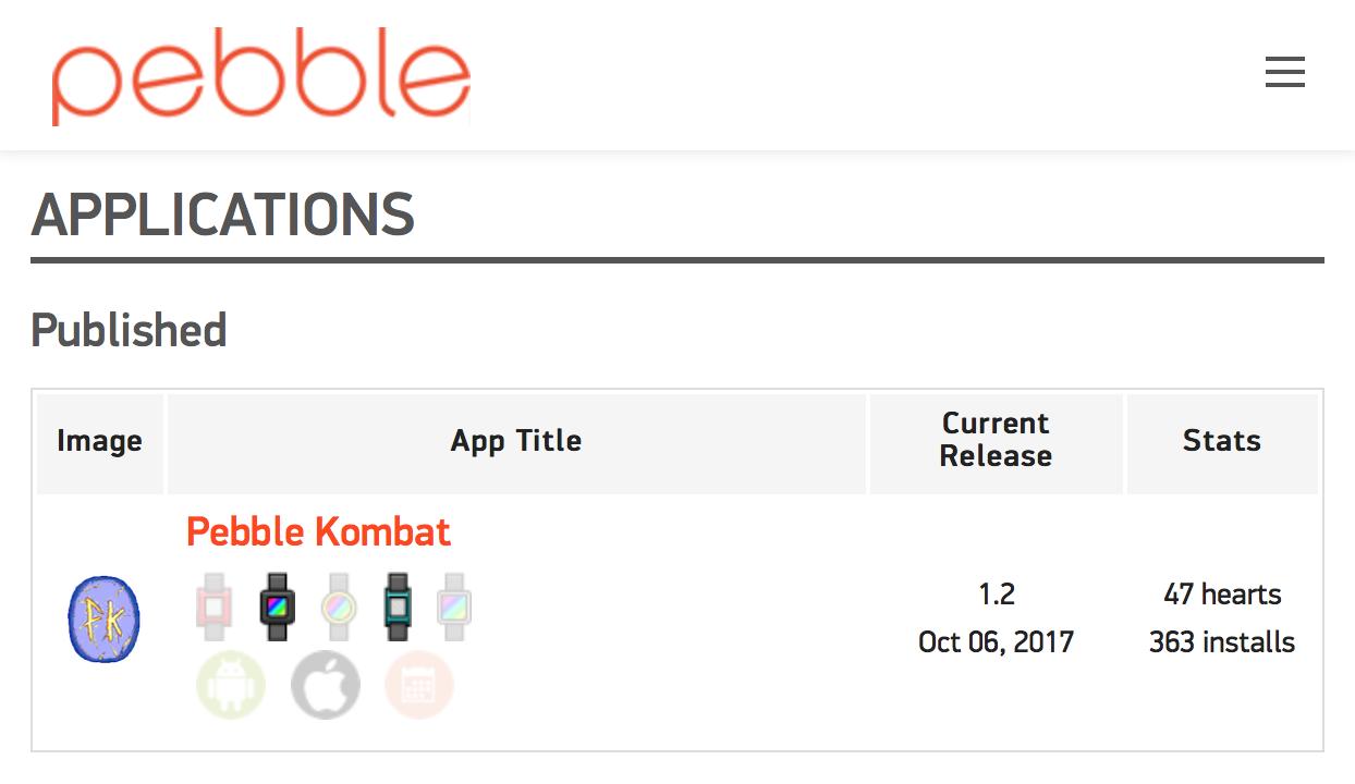 Pebble Kombat. История разработки игры для часов на Javascript - 8